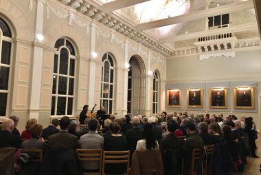 Daniele Caminiti and Mirko Arnone at Cambridge Early Music. Newnham College.
